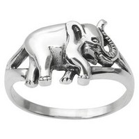 Women's Journee Collection Elephant Ring in Sterling Silver : Target