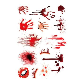 Wound Scab Blood Halloween Scar Tattoos Temporary Tattoos Sticker Decor
