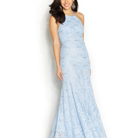 B Darlin Juniors' Sequin Lace Mermaid Gown