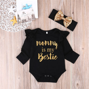 One-piece Newborn Infant Baby Girl Kids clothes Jumpsuit Bodysuit Long Sleeves Baby Clothing Outfit Clothes