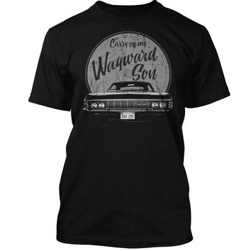 Supernatural TV inspired T-Shirt Carry on my Wayward Son Chevy Impala Winchester