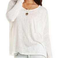 Oversized Dolman Sleeve Top by Charlotte Russe - Ivory