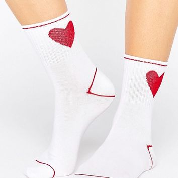 Monki Sports Sock at asos.com
