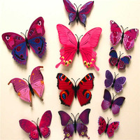 Butterfly 3D Wall Stickers (12 Pcs.)