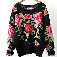 SALES: Knitted Floral Jumper from TheSOUL-ERS
