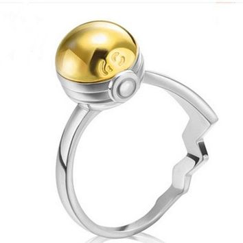 Pokeball GS Ball Ring Openable 925 sterling silver Pocket Monster Ring in gift box   Kawaii Pokemon go  AT_89_9