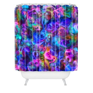 Lisa Argyropoulos Colour Aquatica Berry Blue Shower Curtain