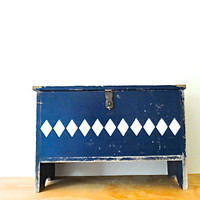 Vintage Wooden Tack Chest from Pimlico / horse trainer tack box