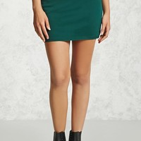 Zip-Front Mini Skirt