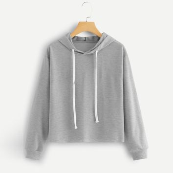 Harajuku Sweatshirt Hooded Hoodies Autumn 2018 Women Streetwear Gray Hoodie Woman Kpop Clothes Moletom Feminino