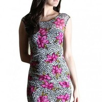 Floral Leopard Dress  - Diva Hot Couture