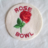 Vintage Rose Bowl Patch
