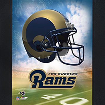 Los Angeles Rams | 3D Art | LED Back Lighting | Framed | NFL