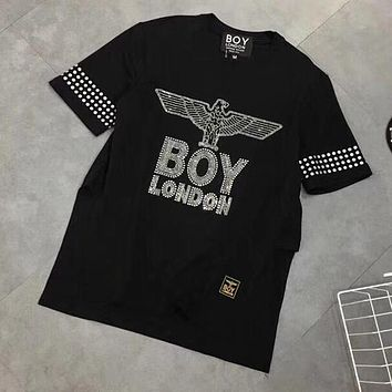 BOY LONDON Women Fashion Rhinestone Tunic Shirt Top Blouse