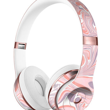Marbleized Swirling Pink and Purple v3 Full-Body Skin Kit for the Beats by Dre Solo 3 Wireless Headphones