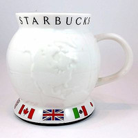 Barista World Travel Coffee Mug Starbucks Cup 2002 24oz No Slip Flags k423