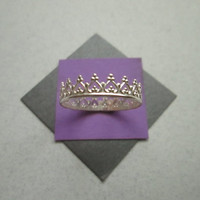 Crown Ring, Sterling Silver