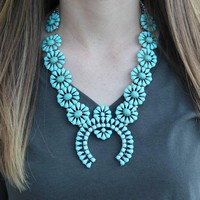 Statement Squash Blossom Necklace