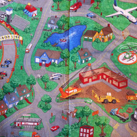 Around the Neighborhood Play Mat, creative play space for boys and girls