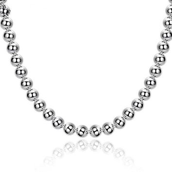 ON SALE - Classic Beads Sterling Silver Necklace