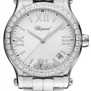 Chopard - Happy Sport Automatic - Round Medium 36mm - Stainless Steel and Diamonds