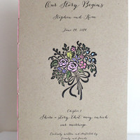Large Wedding Reception Books - Our Story Begins - Rustic  Reception Books