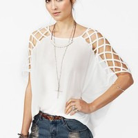 Cut Up Top - White in What's New at Nasty Gal