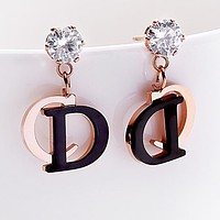 DIOR Popular Women Chic CD Letter Pendant Earrings Accessories Jewelry