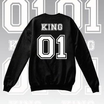 King and Queen Number 1 Couples T shirt/Hoodie/Crewneck