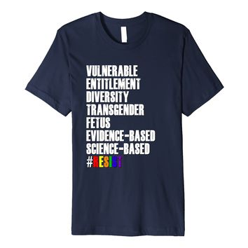 Trump Banned Forbidden Word Shirt LGBT Gay Pride Transgender