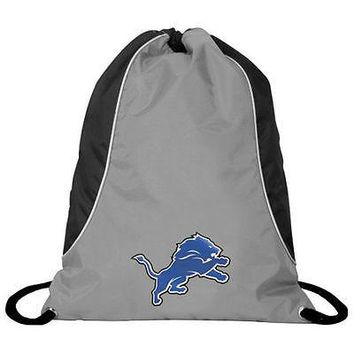 NFL Detroit Lions Axis Backpack Cinch String Bag Tote Drawstring Pouch Sling