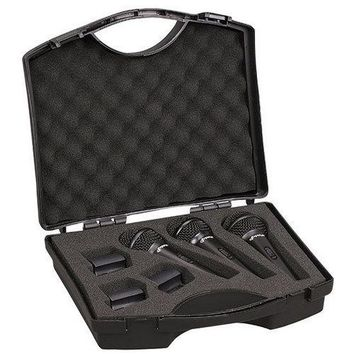 (3) Professional Dynamic Handheld Microphones, Cardioid Moving Coil Vocal Mics with Clip Adapters (3-Pack)