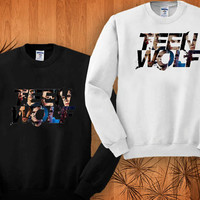 teen wolf  sweatshirt black and white size S - 3XL