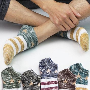 Women&Men's Cotton Warm Socks Star Business Crew Ankle Low Cut Casual Stripes Classic Cotton Socks Boat Socks Dropshipping 1220