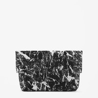 Reversible jacquard clutch