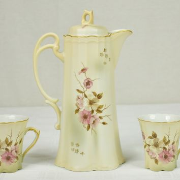 Nippon Teapot & Cups - Japan Porcelain - Beautiful Set