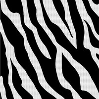 White tiger stripes themed yoga mat, cool wild life pattern exercisses accessory
