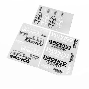 RC CAR Parts Ford Decals Sticker LOGO for 1/10 Traxxas TRX-4 TRX4 Scale Bronco Body Shell