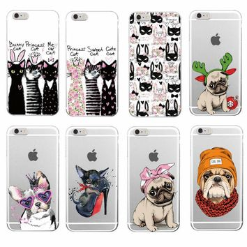 Cute Puppy Phone Case Cover For iPhone 7/7Plus 6/6S 6Plus