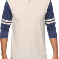 Dravus Strike Out Henley Baseball T-Shirt