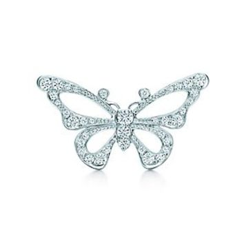 Tiffany & Co. -  Butterfly brooch in platinum with diamonds, medium.