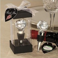 Crystal Ball Bottle Stopper by goodbuy on Zibbet