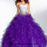 2014 Purple Beaded Sweetheart Quinceanera Dress with Ruffled Tulle Skirt Style MLER056,2014 Pretty Quinceanera Dresses