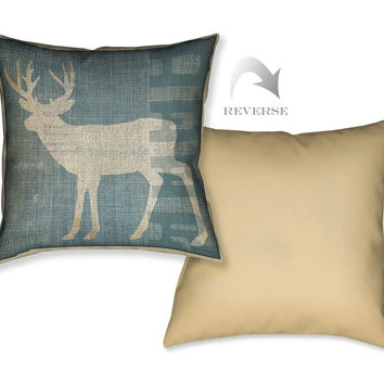 Lodge Deer Indoor Decorative Pillow