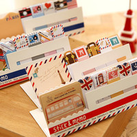 New cartoon illustration sticky notes, sticky memo pads for DIY scrapbook, writing, office, wall deco