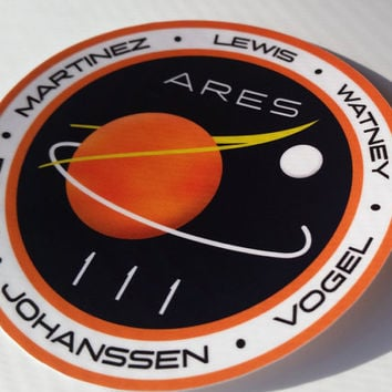 The Martian NASA ARES III Patch Vinyl Sticker