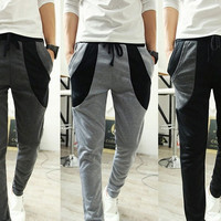New Men Casual Harem Baggy Hip Hop Dance Sport Sweat Pants Slacks Trousers = 1697511684