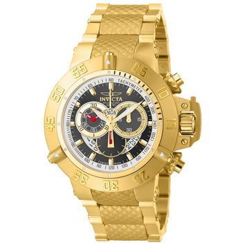 Invicta 14454 Men's Subaqua Noma III Gunmetal Dial Gold Tone Steel Bracelet Chronograph Dive Watch