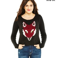 Foxy Cropped Sweater