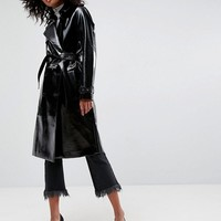 ASOS Trench Coat in Vinyl at asos.com